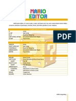 Mario Editor Manual