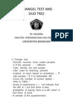 2. Triangel Test & Duo Trio