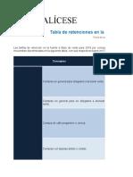 Tabla de Retenciones Ano Fiscal 2018