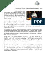 Discurso Del Papa Francisco a Los Jóvenes de Perú