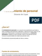 Reclutamiento de Personal - Eduardo Atri Cojab