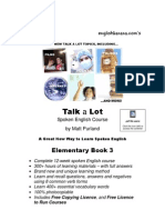 Talk a Lot Elementary Book 3 Final Version 16032010