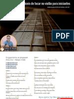 eBook - Músicas Fáceis de Tocar Para Iniciantes - Curso de Violão Salomão Boanerges
