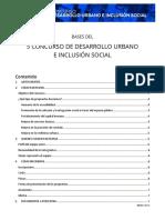 Bases Del 5 Concurso de Desarrollo Urbano e Inclusion Social