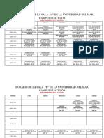 Horario Salas de Cómputo Marzo - Julio 2018