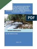 Estudio Hidrológico - Sampantuari