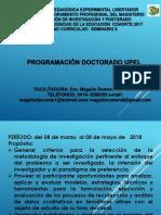 PROGRAMACIÓN DOCTORADO