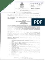 Ley Municipal de Regulacion Tecnica de Lotes y Edificaciones 204-2017