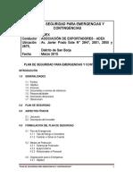 Plan de Seguridad Ante Emergencias y Contingencias Por Riesgos Naturales y Tecnológicos