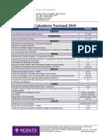 Calendario Nacional 2018