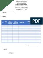 Sansebinstructional Supervisory Plan