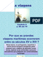 As viagens marítimas a chegada dos portugueses ao Brasil