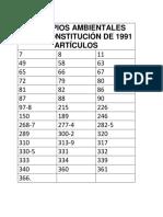 Artículos Ambientales de La Constitución de 1991
