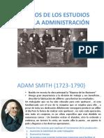 Pioneros de Los Estudios Sobre La Administración