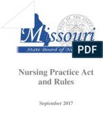 Nurse Practice Act CS