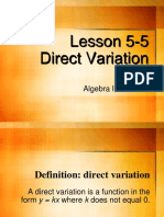 2-3 Direct Variation Lecture