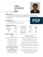 Md Khademul Islam, Physiocurriculumvitae