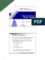 Impulse Invariance and Bilinear