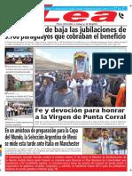 Periódico Lea Viernes 23 de Marzo Del 2018