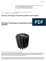 Extrusion Technology of Aluminium Profiles for LED Heatsink - Pin Fin Heat Sink _ LED Heat Sink _ LED Cooler