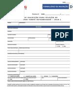 Formulario d - Ficha Inscricao Substituto - 2018.1