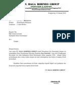 Surat Permohonan Pekerjaan Konsultan DP