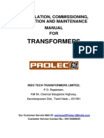 Instruction Manual for Power Transformers
