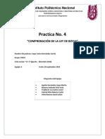 Practica 4 Termodinámica Comprobacion de ley de Boyle