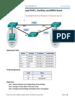 283549492 2 3 2 3 Lab Configuring Rapid PVST PortFast and BPDU Guard ILM PDF