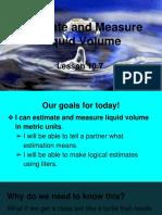 estimate and measure liquid volume