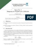 Como programar el diagrama de Nyquist