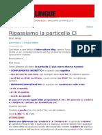ITALIANO Particella Ci