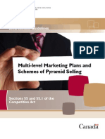 Definition of Multi-level Marketing Plans and Schemes of Pyramid Selling Sections 55 and 55.1 of the Competition Act Canada