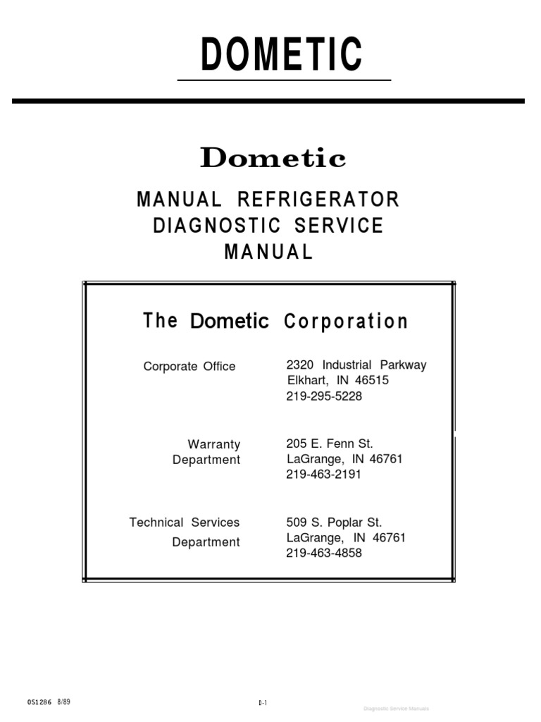 dometic service manual pdf air conditioning thermostat rh scribd com dometic awning repair manual dometic refrigerator repair manual
