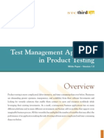 Wp Test Management Approach Product Testing