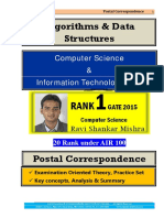 Algorithms Data Structures GATE Computer Science Postal Study Material