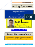 Operating Systems GATE Computer Science Postal Study Material