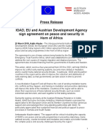 Joint Press Release - IGAD-EU-ADA Sign New Grant Agreement on Peace and Security in the Horn - 23 March 2018