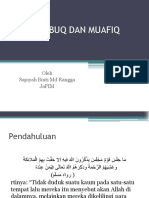 Masbuq Dan Muwafiq