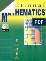 Longman Additional Mathematics for a Level [Advanced Level]