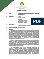 IMCI - Seminar Proposal