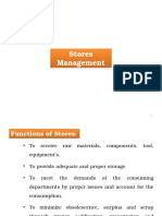 3. Stores Management