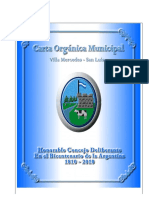 Carta Organica Municipal 2009