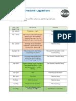 production schedule unit 8