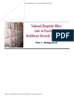 NHO Code of Practice for Healthcare Records Management Version 2 0