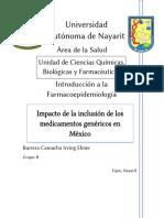 Impacto de los medicamentos genéricos en México