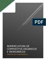 Nomenclatura y formulación de sustancias orgánicas