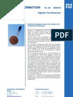 Kalibrierter digitaler Sensor für relative Luftfeuchte und Temperatur