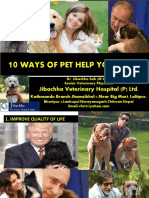 10 Ways of Pet Help Yours Life -Dr.Jibachha Sah