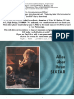 Gossen Sixtar German Deutsch manual
